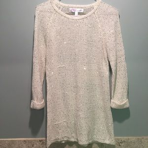 Vioblu | Sequins White Knitted Sweater